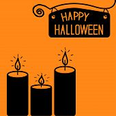 Happy Halloween  Candle Card.