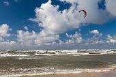 Kitesurfer And Seagull