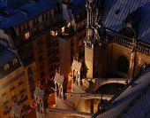 Parisian architecture at night