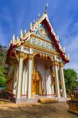 PHANG NGA, THAILAND - 8 NOV 2012: Architecture of Wat Tham Suwan Temple in Thailand. This Buddhism t