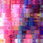art abstract colorful graphic background; geometric border stylized pattern in violet, pink and blue