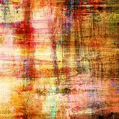 art abstract colorful acrylic and pencil background in rose, orange, beige, green and brown colors