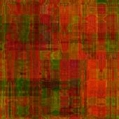 art abstract colorful geometric pattern; tiled background in red, gold and green colors