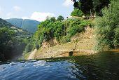 Pliva River Flowing Over Jajce Waterfall