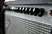 stock photo of guitar  - close up image of guitar amplifier background