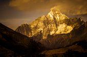 mountain ridge, landscape in tibet china.