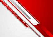Bright red technology corporate background. Vector design