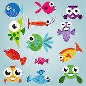 Cartoon Sea Fish Set
