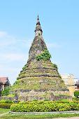 Buddhist Temple In Vientiane, Capital Of Laos