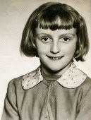 POLAND, CIRCA SIXTIES - Vintage photo of little girl