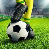 Brazilian Soccer Player's Feet