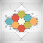 Modern Hexagon background