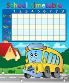 School timetable composition 9 - eps10 vector illustration.