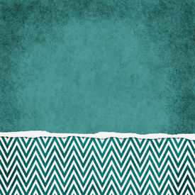 pic of chevron  - Square Teal and White Zigzag Chevron Torn Grunge Textured Background with copy space at top - JPG