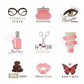 9 beauty and fashion logo templates
