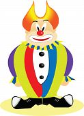 Happy and colourfull clown