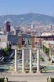 Great Montjuic fountains in Barcelona, Spain