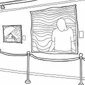 Outline Of Art Gallery Display