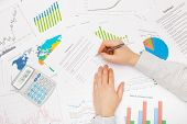 Business Man Working With Financial Data - Preparing For Signing Contract
