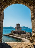 The Bourtzi tower, Methoni, Peloponnese, Greece.