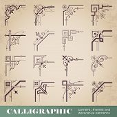 Calligraphic corners, frames and decorative elements