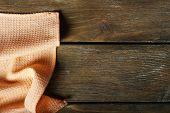 Napkin on wooden table