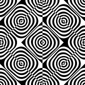 Seamless Square Pattern. Black and White Regular Texture