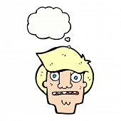 cartoon worried face