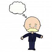 cartoon bald man with mustache