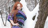 Beautiful Adult Woman In Winter