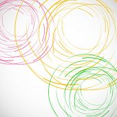 Vector abstract color line and circle background