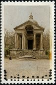 Temple Of Eternity Bomarzo On Old Stamp