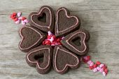 Heart Cookies in a Circle