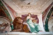 Fresco Detail Casino Montaldo Villa Lante Italy