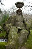 Moss-covered Statue Of Goddess Cerere