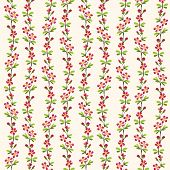 Red flower pattern repeat background.