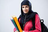 Arab Woman Before Classes