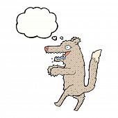cartoon hungry wolf