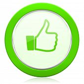 like icon thumb up sign