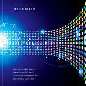 Colorful concept music abstract background.