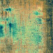 Grunge aging texture, art background. With different color patterns: yellow (beige); brown; cyan; green
