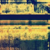 Grunge background with vintage and retro design elements. With different color patterns: yellow (beige); brown; blue