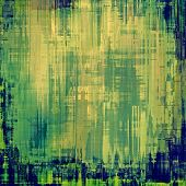 Abstract old background with rough grunge texture. With different color patterns: yellow (beige); blue; cyan; green