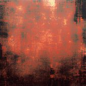 Abstract grunge background or old texture. With different color patterns: brown; red (orange); black