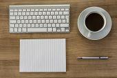 Modern Keyboard On A Desktop
