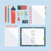 set of stationery design elements
