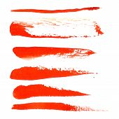 Watercolor design element  red brush for the realization