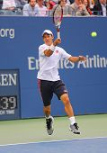 US Open 2014 finalist Kei Nishikori during final match against Marin Cilic