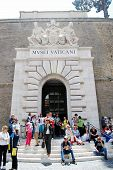 Entrance To The Vatican Museum On May 30, 2014