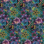 Seamless Dark Background Patterns And Lace